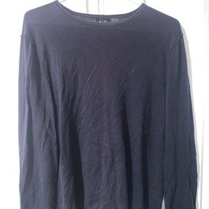 Armani exchange long sleeve navy shirt